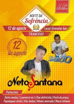 panfleto Noite da Sofrência com Neto Santana + Sivaldo