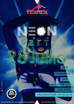 panfleto Neon Party