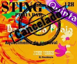panfleto Esquenta de Carnaval - A Banda da Praia