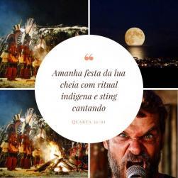 panfleto Festa da Lua Cheia
