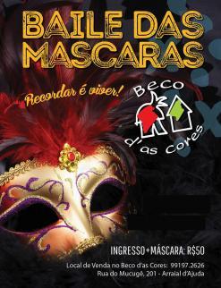 panfleto Baile das Máscaras 2018