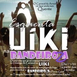 panfleto Esquenta Uíki Bandeiroza 2018