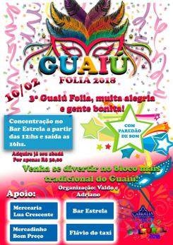 panfleto Guaiú Folia 2018