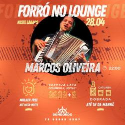 panfleto Forró no Lounge - Marcos Oliveira