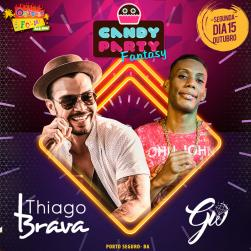 panfleto Candy Party Fantasy - Thiago Brava e Mc GW