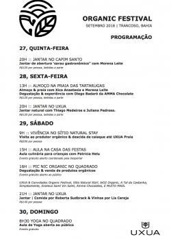 panfleto 1° Organic Festival