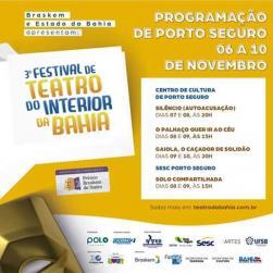 panfleto 3º Festival de Teatro do Interior da Bahia