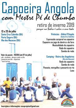 panfleto Capoeira Angola: Retiro de Inverno