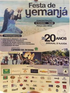 panfleto Festa da Iemanjá em Arraial