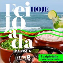 panfleto Vila Soul + feijoada da praia
