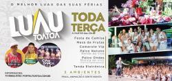 panfleto Luau Tôa Tôa - Noite da Camiseta - cancelado