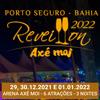 panfleto Réveillon Axé Moi 2021 - Baile da Santinha, Léo Santana + 1 Atração
