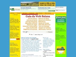 panfleto Calango! O Portal da Bahia, Brasil