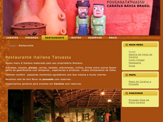 panfleto Tatuassu - Restaurante italiano