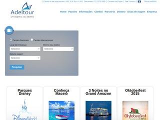 panfleto Adeltour - Turismo, câmbio e receptivo