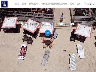 panfleto Sting Praia Bar - Bar e Restaurante de Praia