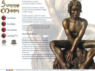 panfleto Esculturas em pedra Elodie KORNHEISER