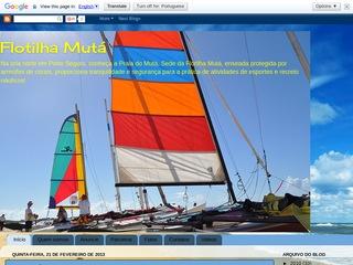 panfleto Flotilha Mutá - Praia do Mutá