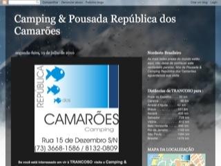 panfleto Camping & Pousada República dos Camarões