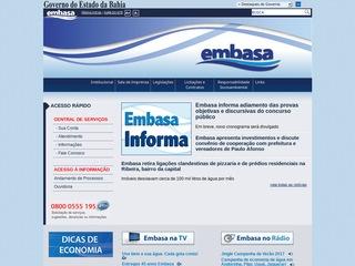 panfleto EMBASA - Emp. Bahiana de Águas e Saneamento