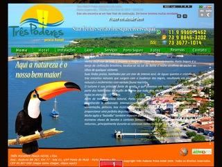 panfleto Três Poderes Praia Hotel