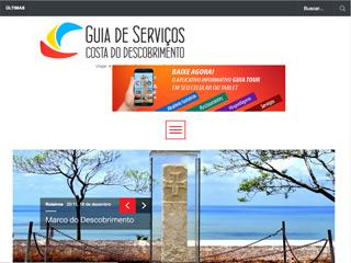 panfleto Site de dicas de Serviços Turísticos