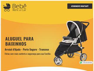 panfleto Bebê Rent a Car - Aluguel de Carrinhos de Bebê