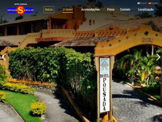 panfleto Hotel Pousada Estação Santa Fé