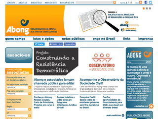 panfleto ABONG - Associação Brasileira de ONG